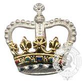 Silver & Gold 6-1004 Rank Crown w/ stems (pair)