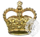 Gold 6-1014G Rank Crown w/ eyelets (pair)