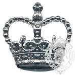 Silver 6-1014S Rank Crown w/ eyelets (pair)