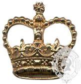 Gold 6-1036G Rank Crown w/ eyelets (pair)
