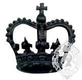 Black 6-1038 Rank Crown w/ screw post (pair)