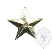 5-Pointed Star 6-1034 w/ metal tabs (pair)