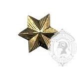 6-Pointed Star 6-1045G w/ metal tabs (pair)