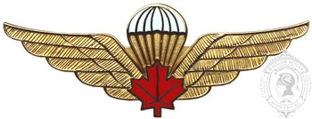Parachutist Wing, Red Maple Leaf, Metal