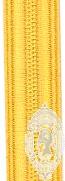 10mm Gold Naval / Fire Braid (mtr)