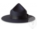 Wide Brimmed Mesh Pointed Hat