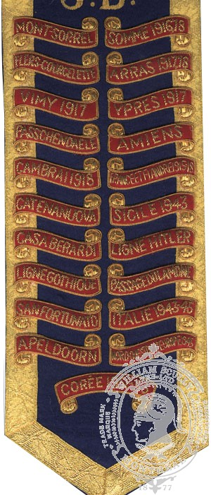 Embroidered Battle Honours