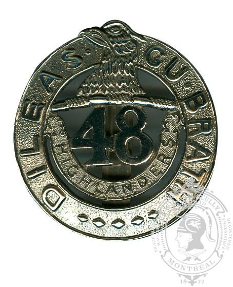 Insigne de képi 48th Highlanders