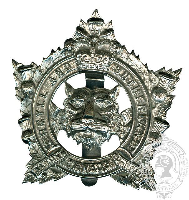 Insigne de képi The Argyll and Sutherland Highlanders of Canada