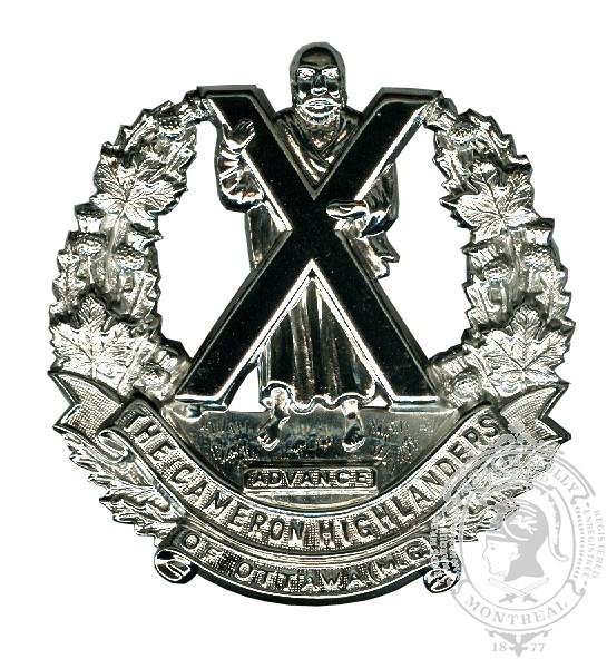 Insigne de képi Cameron Highlanders of Ottawa