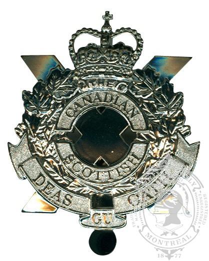 Insigne de képi Canadian Scottish Regiment