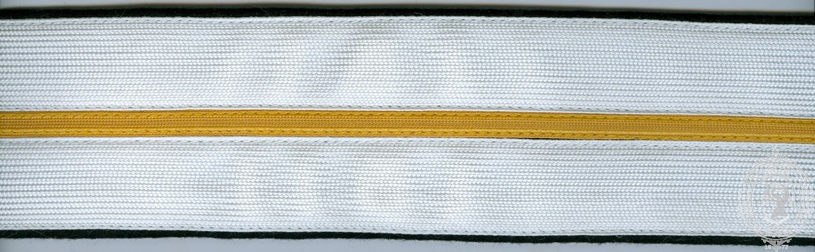 "Ceinture en tissu, 2-1/4"", 2 rangées galon rayon 1"" avec bande mince"