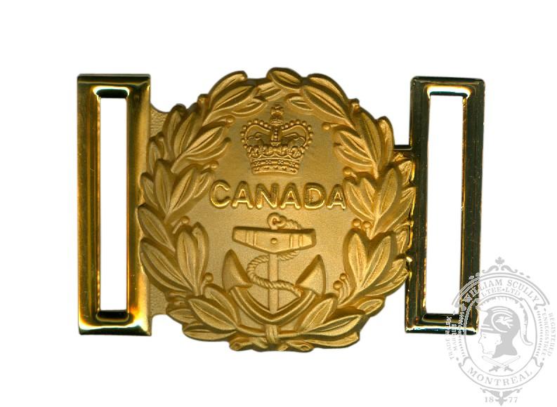 Boucle traditionnelle pour ceinture d'épée de la Marine royale du Canada