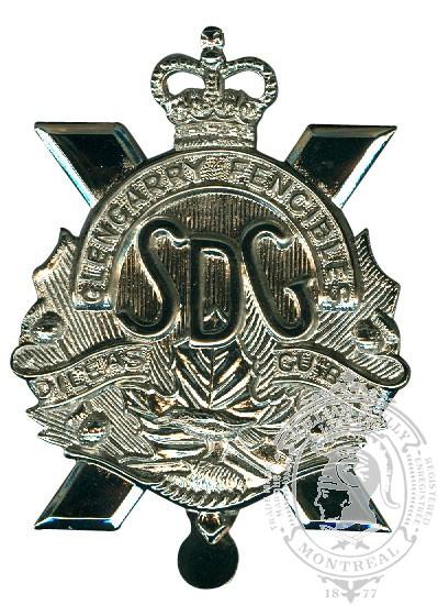 Insigne de képi Stormont, Dundas and Glengarry Highlanders