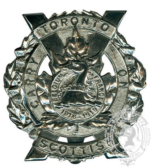 Insigne de képi Toronto Scottish Regiment