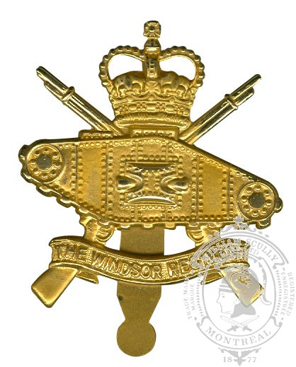 Insigne de képi Windsor Regiment