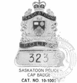10-1000 Custom Municipal Police Cap Badge