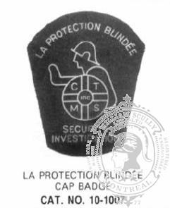 10-1007 Security Guard Company Custom Enamelled Badge