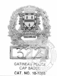 10-1008 BNQ Municipal Cap Badge with Cage