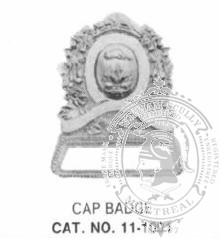 11-1001 Cap Badge with Cage