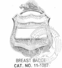 11-1007 Police Breast Badge with Cage