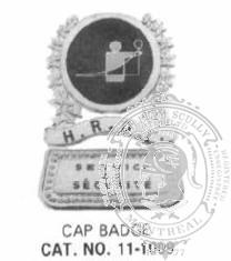 11-1009 Security Company Custom Badge