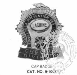 9-1002 City Fire Department Cap Badge