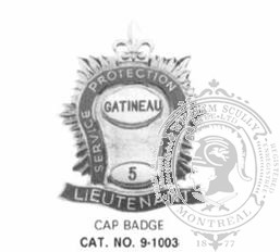 9-1003 Municipal Fire Department Cap Badge