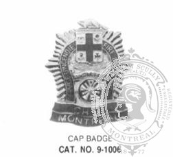 9-1006 Municipal Fire Officer Cap Badge