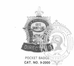 9-2000 Fire Department Pocket Badge