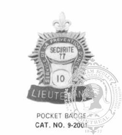 9-2001 Fire Department Pocket Badge