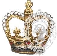 Couronne dorée & argent 6-1040 avec pattes en métal (paire)