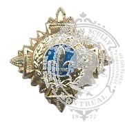 Étoile fleur de lys Québec 6-1016 avec vis (paire)