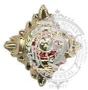 Étoile dorée 6-1028G avec clous (paire)
