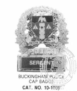 Bureau des Normes de Quebec Municiap Police Badge