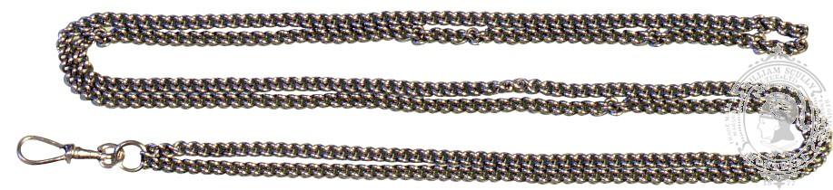 Chaîne pour sifflet de manœuvrier avec crochet pivotant (67 cm)