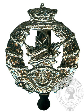 Insigne de képi British Columbia Regiment