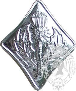 Bouton chardon en forme diamant