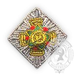 Étoile de rang brodée DND pour grande tenue (paire)