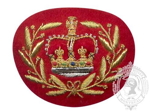 Insigne de rang adjudant maître brodé (fond rouge)