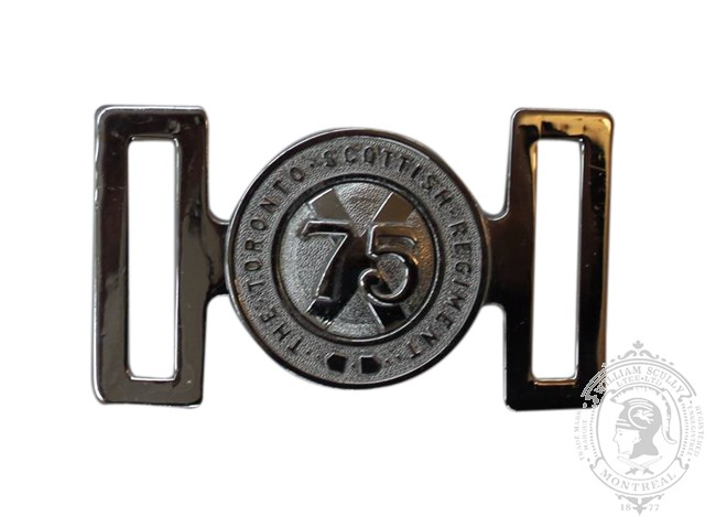 75TH BATTALION THE TORONTO SCOTTISH REGIMENT INTERLOCKING BUCKLE