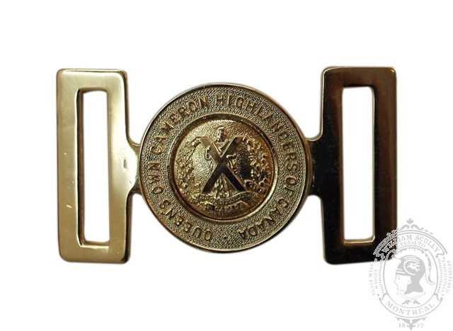 QUEEN'S OWN CAMERON HIGHLANDERS OF CANADA INTERLOCKING BUCKLE