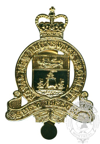 Insigne de képi Royal New Brunswick Regiment