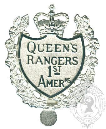 Insigne de képi Queen's York Rangers