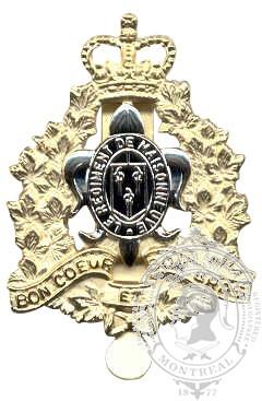 Insigne de képi Régiment de Maisonneuve