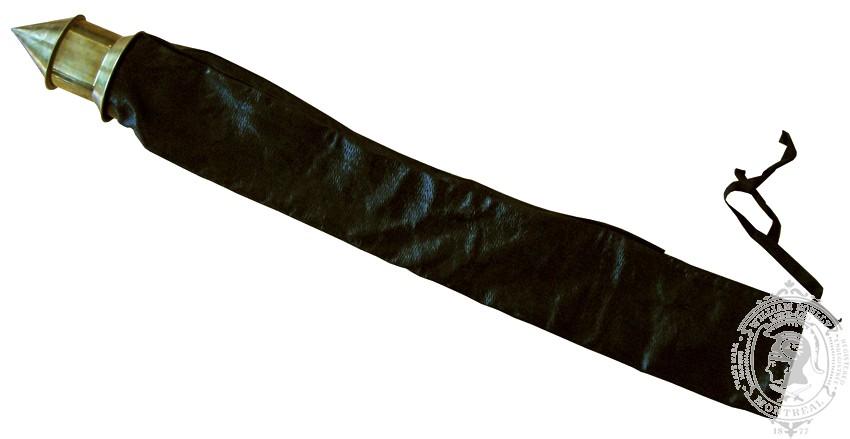 Étui en cuir noir pour drapeau régimentaire