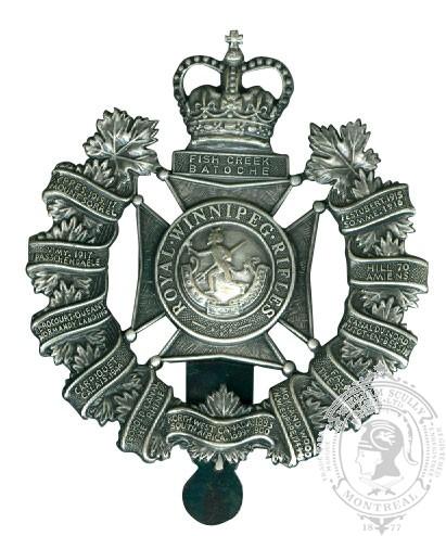 Insigne de képi Royal Winnipeg Rifles