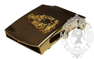 CANADIAN COAT OF ARMS SLIDE BUCKLE