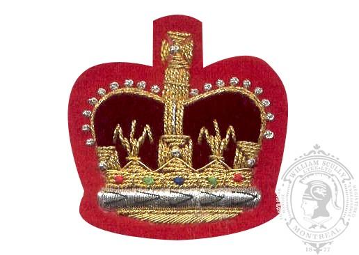 Insigne de rang adjudant brodé (fond rouge)