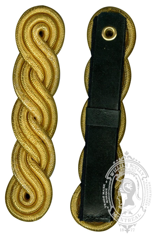 Pattes d'épaule cordon torsadé, or